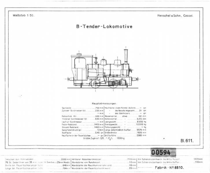B-Tender-Lokomotive (8810)